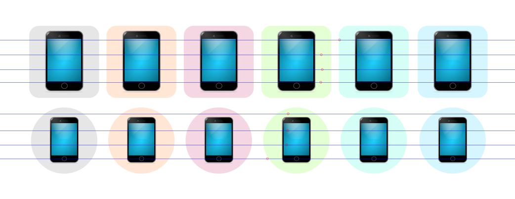 icons of smart phone with different background
