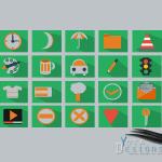 nice flat icons set