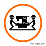 icon of moving material