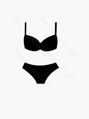 icon of women's swimming suit