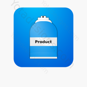 icon of a Spray bottle with blue background