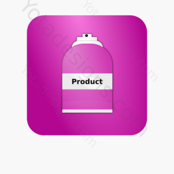 icon of a Spray bottle with pink background