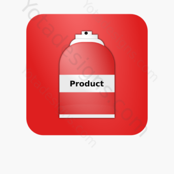 icon of a Spray bottle with red background