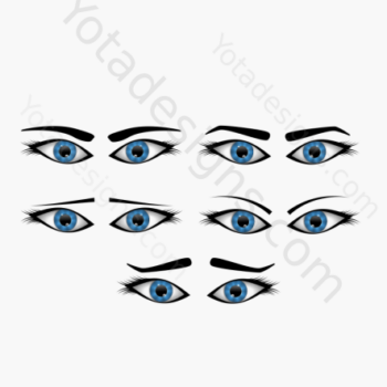icons for eyes with different expression