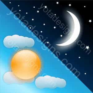 day & night graphic