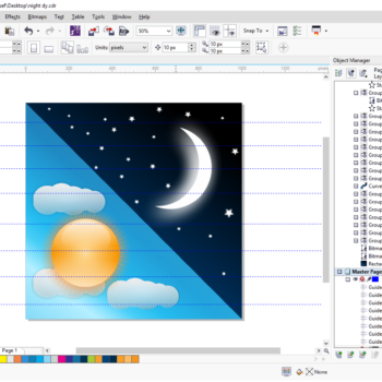 Night and day icon design