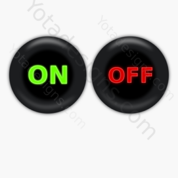 graphic buttons On and OFF set