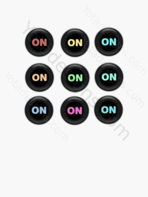 icons set on button