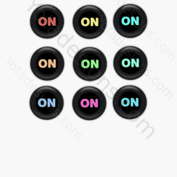 icons set on button