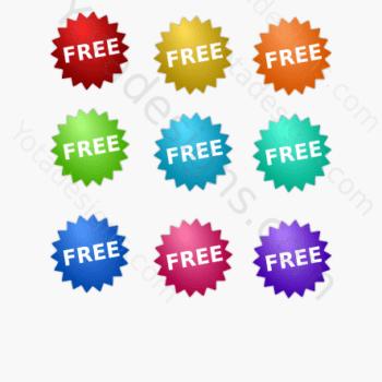 graphic free sticker